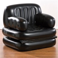 Pure Comfort - 5-In-1 Inflatable Chair Bed Twin Size 6011TCB Black