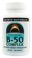 Source Naturals - Vitamin B-50 Complex 50 mg. - 100 Tablets (021078004219)