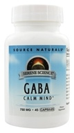 Image of Source Naturals - GABA Gamma-Aminobutyric Acid - 45 Capsules