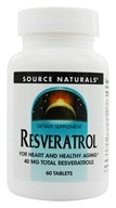 Source Naturals - Resveratrol 40 mg. - 60 Tablets - $11.19