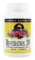 Source Naturals - Resveratrol 200 mg. - 120 Tablets by Source Naturals