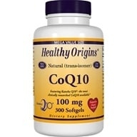 Healthy Origins - CoQ10 Kaneka Q10 Gels 100 mg. - 300 Softgels