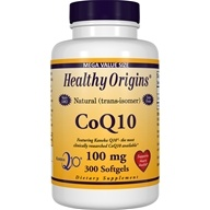 Healthy Origins - CoQ10 Kaneka Q10 Gels 100 mg. - 300 Softgels (603573350185)