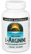 Source Naturals - L-Arginine Free Form 1000 mg. - 50 Tablets (021078018414)