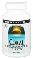 Source Naturals - Coral Calcium/Magnesium 2:1 Ratio - 90 Tablets