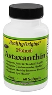 Healthy Origins - Astaxanthin 4 mg. - 60 Softgels by Healthy Origins