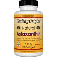 Healthy Origins - Astaxanthin 4 mg. - 150 Softgels by Healthy Origins
