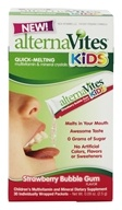 Image of AlternaVites - Quick-Melting Mineral Crystals for Kids Strawberry Bubble Gum - 30 Packet(s)