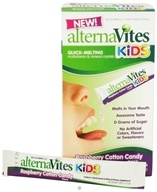 Image of AlternaVites - Quick-Melting Mineral Crystals for Kids Raspberry Cotton Candy - 30 Packet(s)