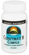 Source Naturals - Coenzymate B Complex Sublingual Peppermint Flavored - 30 Tablets (021078009429)