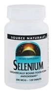 Source Naturals - Selenium 200 mcg. - 120 Tablets