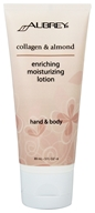 Image of Aubrey Organics - Hand & Body Moisturizing Lotion Enriching Collagen & Almond - 3 oz.
