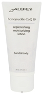 Aubrey Organics - Hand & Body Moisturizing Lotion Replenishing Honeysuckle CoQ10 - 3 oz. - $5.19
