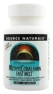Image of Source Naturals - MethylCobalamin Fast Melt 5 mg. - 60 Tablets