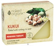 Organix South - Naked Organix Kukui Cleansing Bar Fragrance Free - 4 oz.
