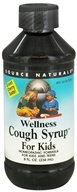 Image of Source Naturals - Wellness Cough Syrup For Kids Cherry - 8 oz.