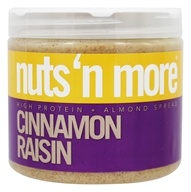 Nuts N More - Cinnamon Raisin Almond Butter - 16 oz., from category: Health Foods