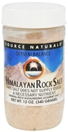 Image of Source Naturals - Crystal Balance Himalayan Rock Salt - 12 oz.