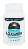Image of Source Naturals - Astaxanthin Antioxidant Carotenoid 2 mg. - 60 Softgels