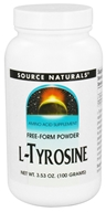 Image of Source Naturals - L-Tyrosine Free Form Amino Acid Powder 660 mg. - 3.53 oz.