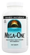 Image of Source Naturals - Mega-One Multi-Vitamin Iron Free - 180 Tablets