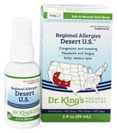 King Bio - Homeopathic Regional Allergies Desert U.S. Natural Medicine Spray - 2 oz. by King Bio