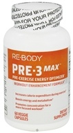 ReBody - PRE-3 Max Pre-Exercise Energy Optimizer - 60 Vegetarian Capsules