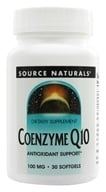 Image of Source Naturals - Coenzyme Q10 100 mg. - 30 Softgels