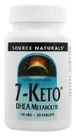 Source Naturals - 7-Keto DHEA Metabolite 100 mg. - 30 Tablets