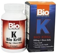 Bio Nutrition - Bio Krill 500 mg. - 45 Softgels, from category: Nutritional Supplements