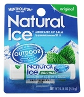 Mentholatum - Natural Ice Medicated Lip Protectant/Sunscreen Original Flavor 15 SPF - 0.16 oz. (310742000412)