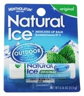 Mentholatum - Natural Ice Medicated Lip Protectant/Sunscreen Original Flavor 15 SPF - 0.16 oz. by Mentholatum
