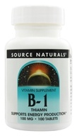 Source Naturals - B-1 Thiamin 100 mg. - 100 Tablets - $3.26