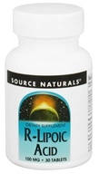 Source Naturals - R-Lipoic Acid 100 mg. - 30 Tablets (021078016632)