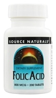 Image of Source Naturals - Folic Acid 800 mcg. - 200 Tablets