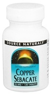 Source Naturals - Copper Sebacate 22 mg. - 120 Tablets - $5.44