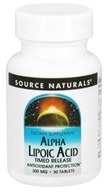 Source Naturals - Alpha Lipoic Acid Timed Release 300 mg. - 30 Tablets - $6.85