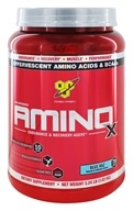 BSN - Amino X BCAA Powder Endurance and Recovery Agent Blue Raspberry - 35.8 oz.
