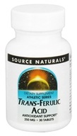 Source Naturals - Trans-Ferulic Acid 250 mg. - 30 Tablets, from category: Nutritional Supplements