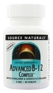 Source Naturals - Advanced B-12 Complex Sublingual 5 mg. - 30 Tablets - $8.99