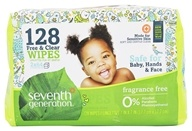 Chlorine Free Baby Wipes Refill Pack Unscented - 128 Wipe(s)