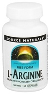Source Naturals - L-Arginine Free Form 500 mg. - 50 Capsules