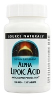 Source Naturals - Alpha Lipoic Acid 100 mg. - 120 Tablets (021078001553)