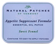 Natural Patches of Vermont - Essential Oil Body Patch Appetite Suppressant Formula Sweet Fennel - 10 Patch(es) - $14.39