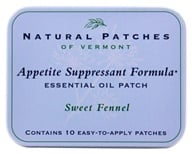 Natural Patches of Vermont - Appetite Suppressant Formula Essential Oil Body Patches Sweet Fennel - 10 Patch(es)