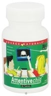 Source Naturals - Attentive Child - 60 Tablets, from category: Nutritional Supplements