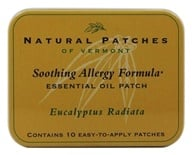 Natural Patches of Vermont - Essential Oil Body Patch Soothing Allergy Formula Eucalyptus Radiata - 10 Patch(es) (855611001829)