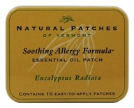 Natural Patches of Vermont - Essential Oil Body Patch Soothing Allergy Formula Eucalyptus Radiata - 10 Patch(es) by Natural Patches of Vermont