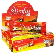 Slimful - Sinfully Delicious 90 Calorie Chew Bar Cocoa Brownie - 12 x .92 oz (26g) Bars (719410018207)