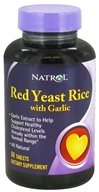Natrol - Red Yeast Rice with Garlic - 60 Tablet(s)